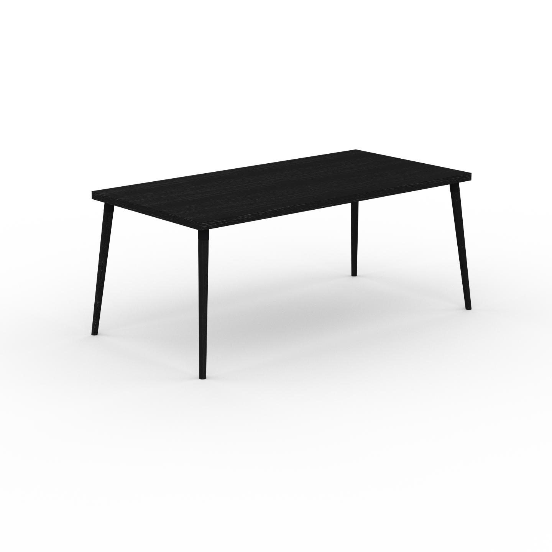 MYCS Table à manger - Wengé, design scandinave, pour salle à manger ou cuisine nordique - 180 x 75 x 90 cm, personnalisable