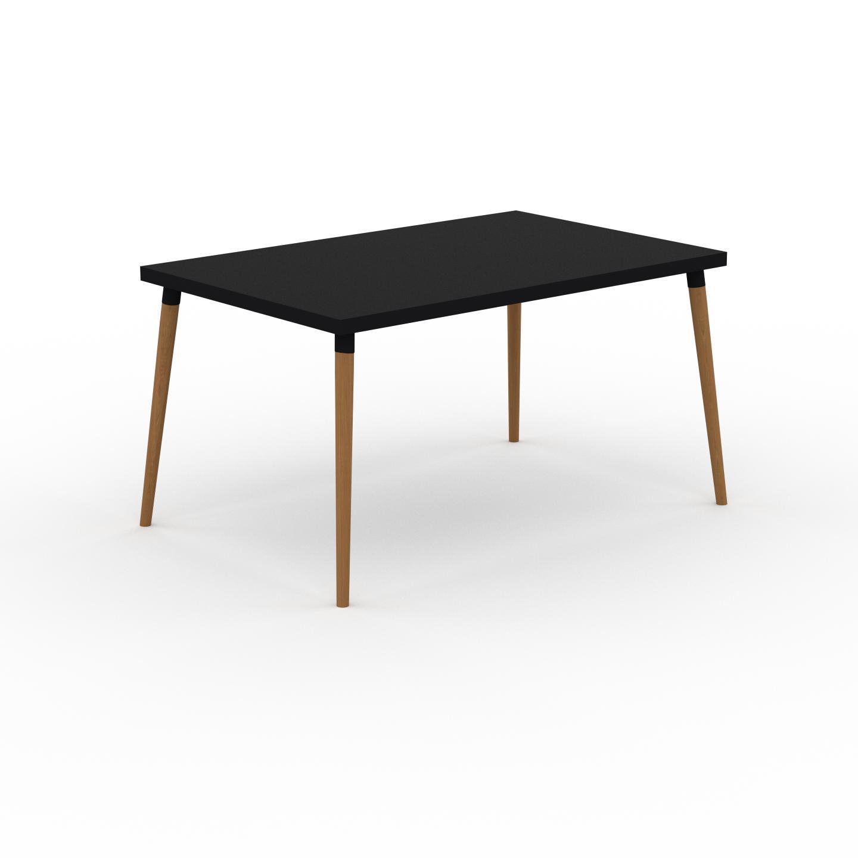 MYCS Table à manger - Noir, design scandinave, pour salle à manger ou cuisine nordique - 140 x 75 x 90 cm, personnalisable