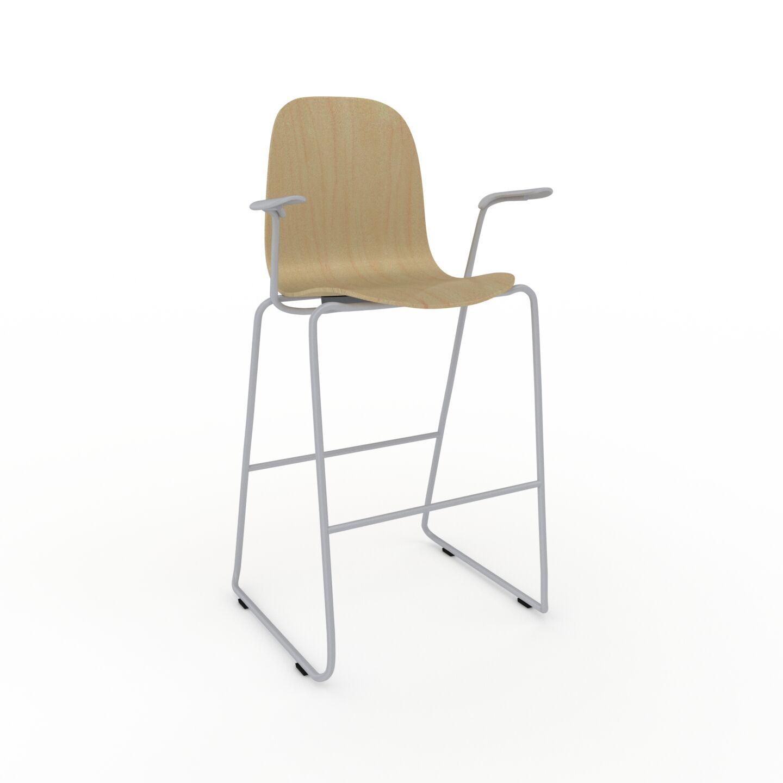 MYCS Chaise de bar Bouleau de 49 x 113 x 62 cm au design unique, configurable