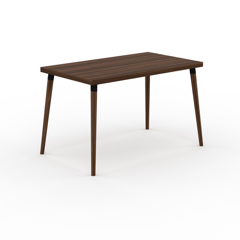 MYCS Table à manger - Noyer, design scandinave, pour salle à manger ou cuisine nordique - 120 x 75 x 70 cm, personnalisable