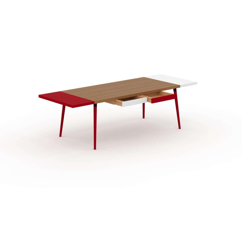 MYCS Table à manger - Chêne, design scandinave, pour salle à manger ou cuisine nordique, table extensible à rallonge - 260 x 75 x 90 cm