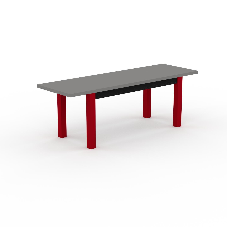 MYCS Table à manger extensible - Gris, moderne, pour salle à manger ou cuisine, avec deux rallonges - 220 x 76 x 70 cm, personnalisable