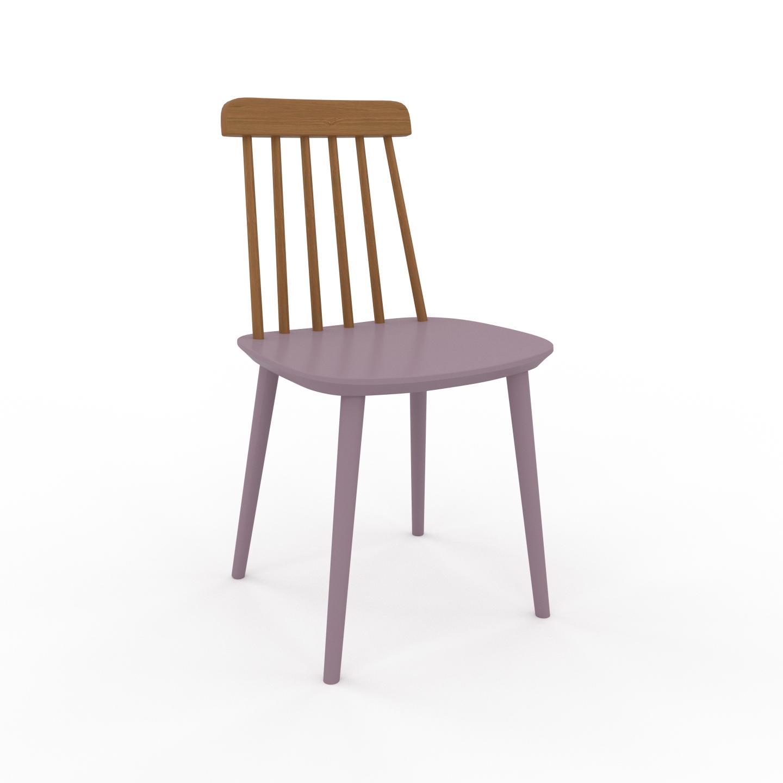MYCS Chaise en bois Rose poudré de 43 x 82 x 44 cm au design unique, configurable