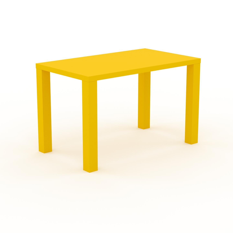 MYCS Table à manger - Jaune, design, pour salle à manger ou cuisine plateau de qualité - 120 x 76 x 70 cm, personnalisable