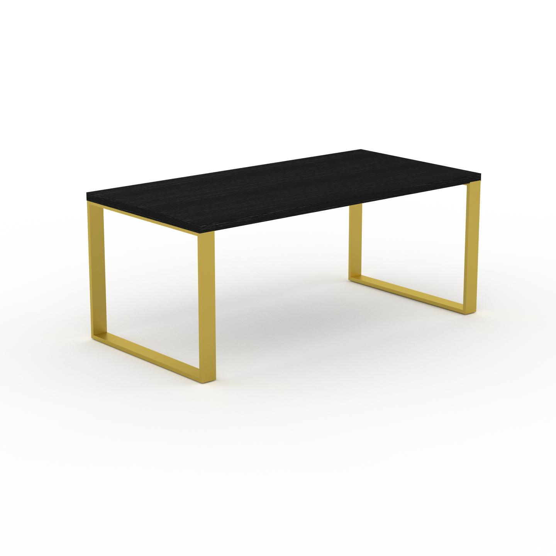 MYCS Table à manger - Wengé, design, pour salle à manger ou cuisine plateau de qualité - 180 x 75 x 90 cm, personnalisable