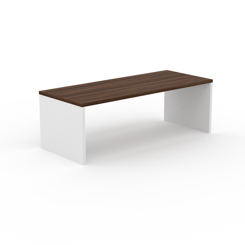 MYCS Table à manger - Noyer, design, pour salle à manger ou cuisine plateau de qualité - 220 x 75 x 90 cm, personnalisable