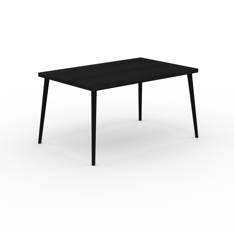 MYCS Table à manger - Wengé, design scandinave, pour salle à manger ou cuisine nordique - 140 x 75 x 90 cm, personnalisable