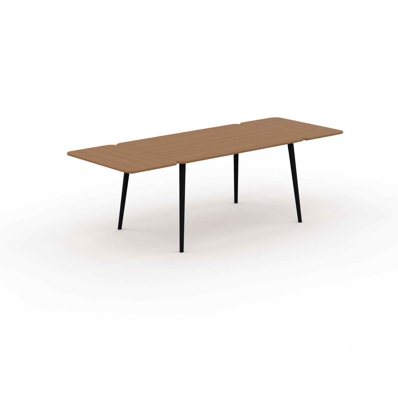MYCS Table à manger - Chêne, design scandinave, pour salle à manger ou cuisine nordique, table extensible à rallonge - 240 x 75 x 90 cm
