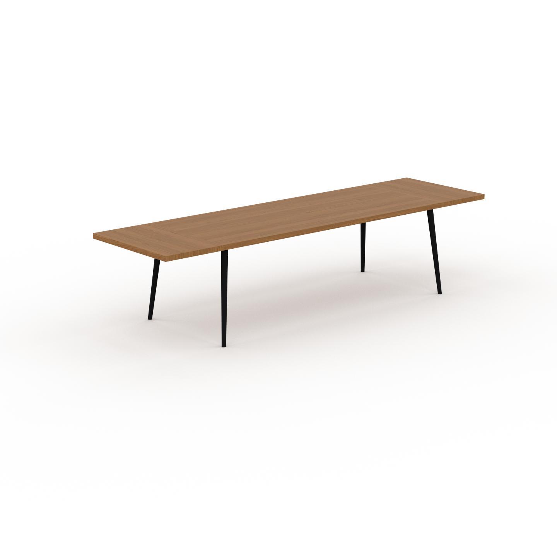 MYCS Table à manger - Chêne, design scandinave, pour salle à manger ou cuisine nordique, table extensible à rallonge - 320 x 75 x 90 cm
