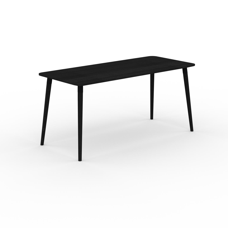 MYCS Table à manger - Wengé, design scandinave, pour salle à manger ou cuisine nordique - 160 x 75 x 70 cm, personnalisable