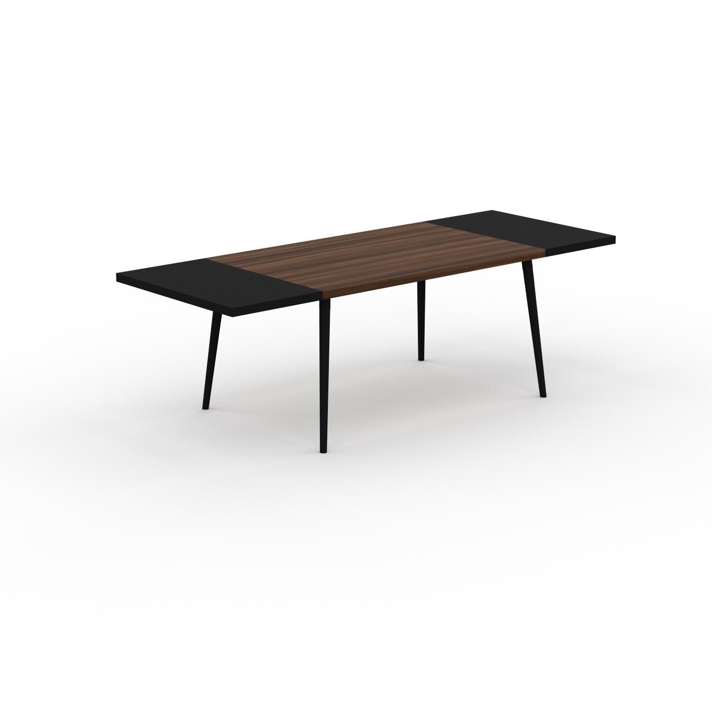 MYCS Table à manger - Noyer, design scandinave, pour salle à manger ou cuisine nordique, table extensible à rallonge - 240 x 75 x 90 cm