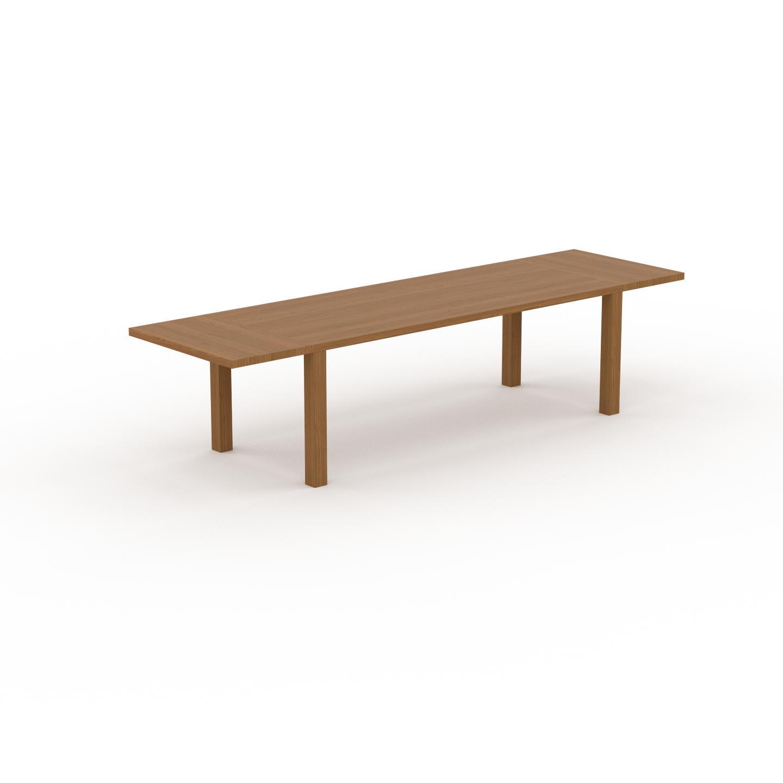 MYCS Table à manger extensible - Chêne, moderne, pour salle à manger ou cuisine, avec deux rallonges - 320 x 76 x 90 cm, personnalisable