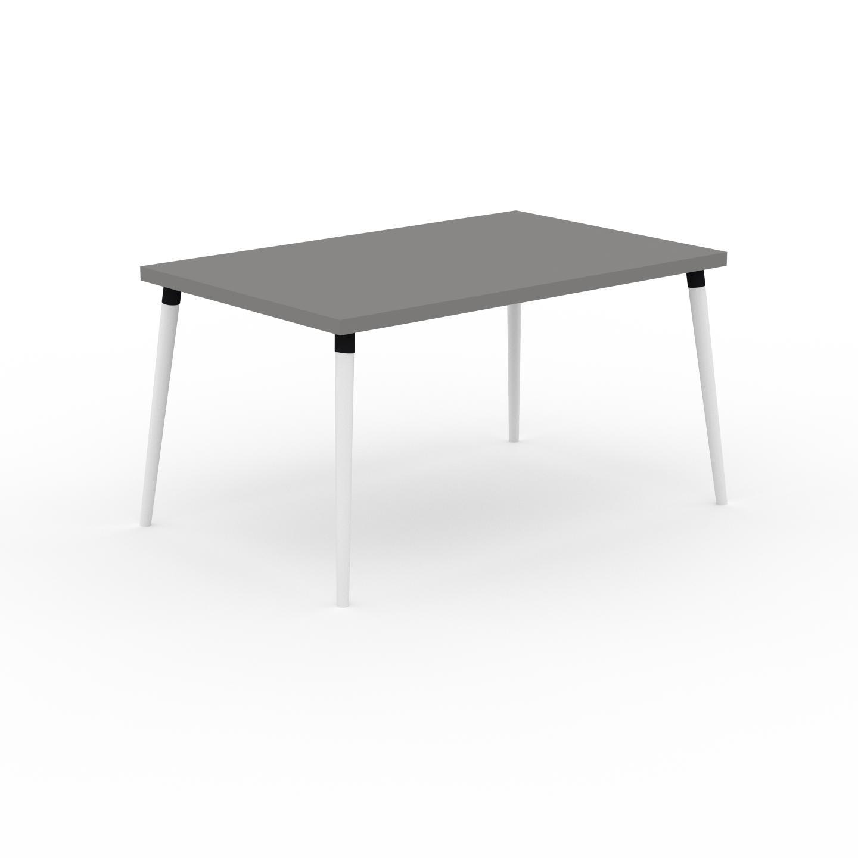 MYCS Table à manger - Gris, design scandinave, pour salle à manger ou cuisine nordique - 140 x 75 x 90 cm, personnalisable