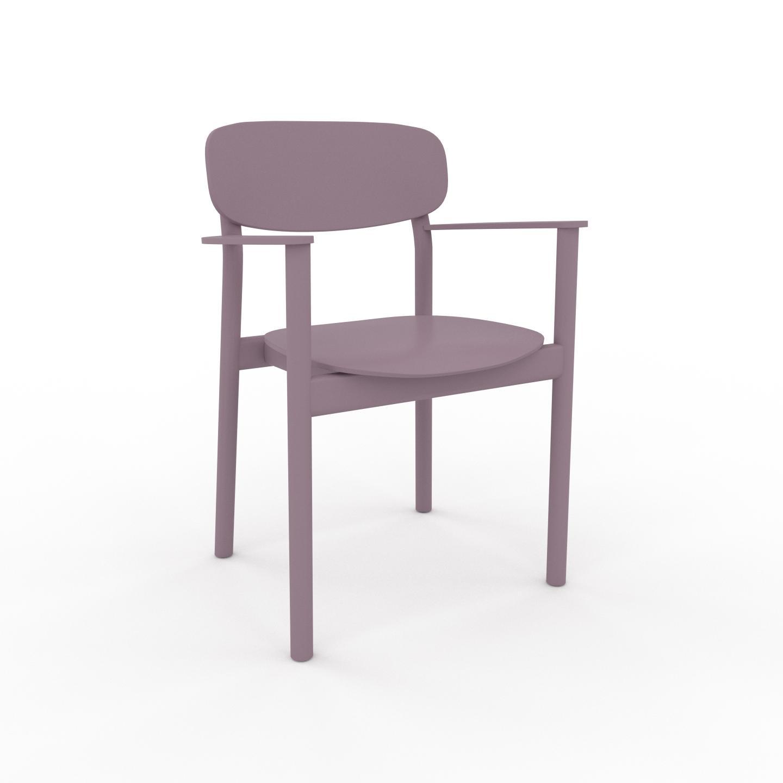 MYCS Chaise avec accoudoirs Rose poudré de 52 x 82 x 58 cm au design unique, configurable