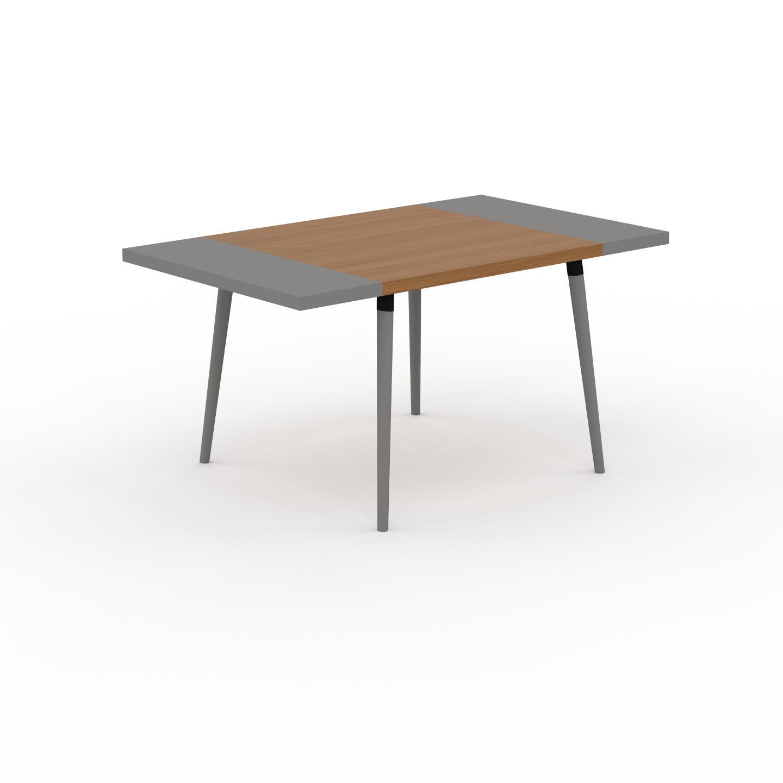 MYCS Table à manger - Chêne, design scandinave, pour salle à manger ou cuisine nordique, table extensible à rallonge - 150 x 75 x 90 cm