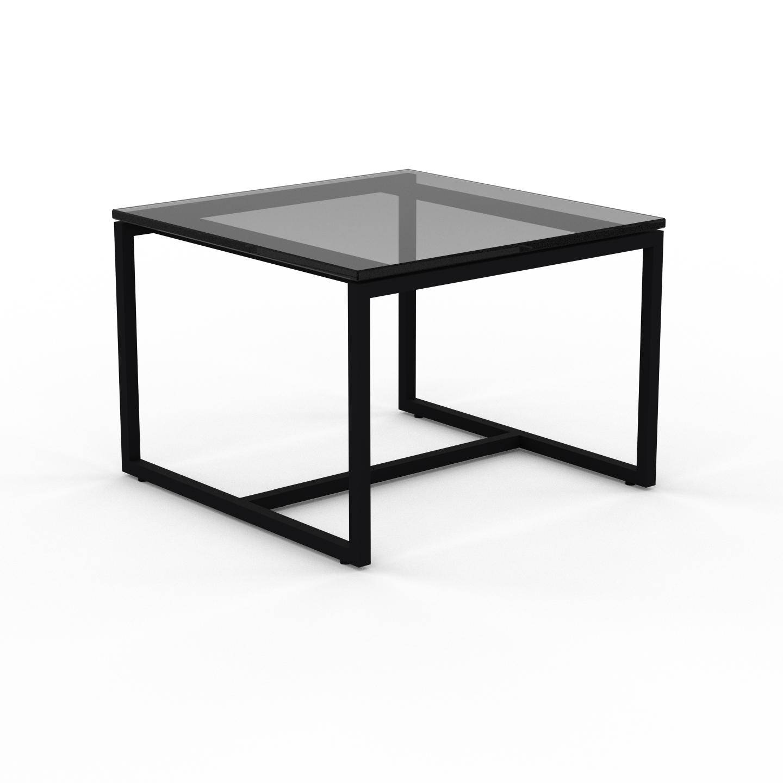 MYCS Table basse en Verre fumé dépoli, design industriel, bout de canapé raffiné - 42 x 31 x 42 cm, personnalisable