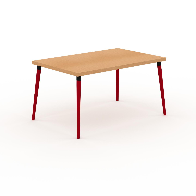 MYCS Table à manger - Hêtre, design scandinave, pour salle à manger ou cuisine nordique - 140 x 75 x 90 cm, personnalisable
