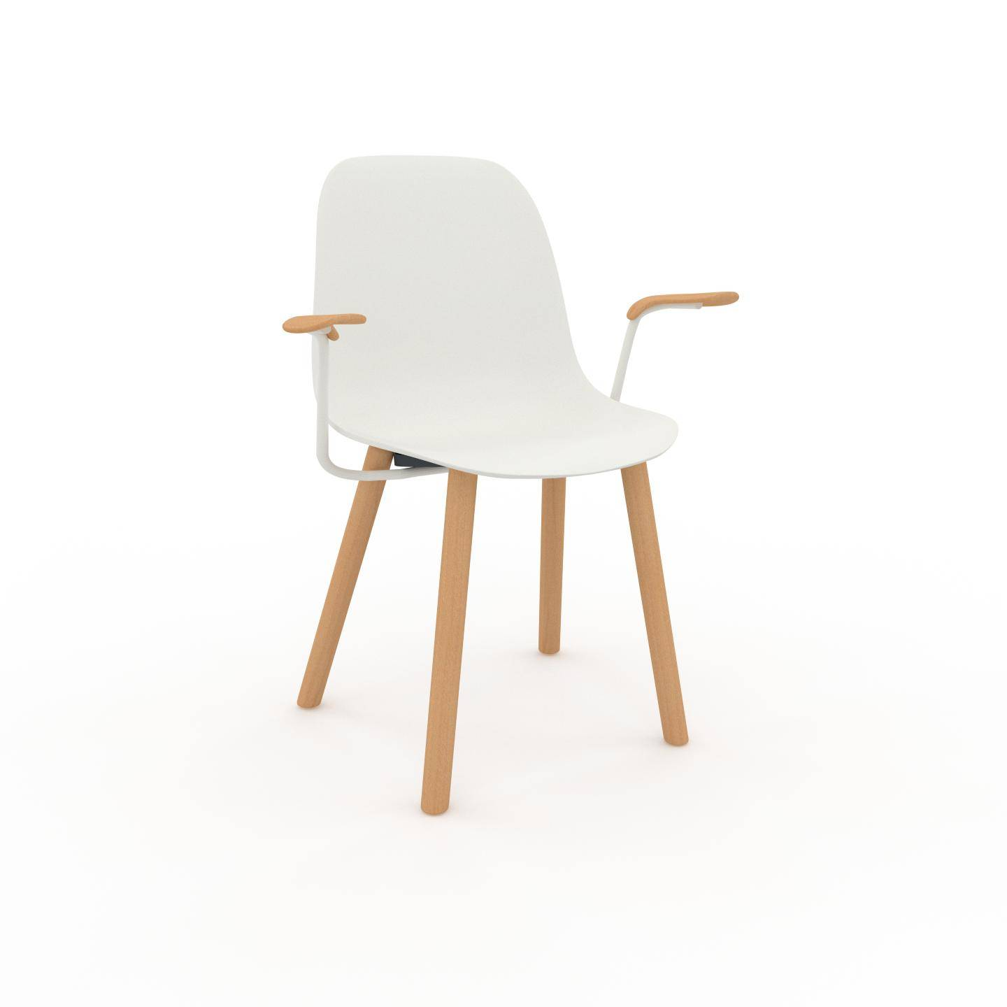 MYCS Chaise en bois blanc de 49 x 82 x 62 cm au design unique, configurable