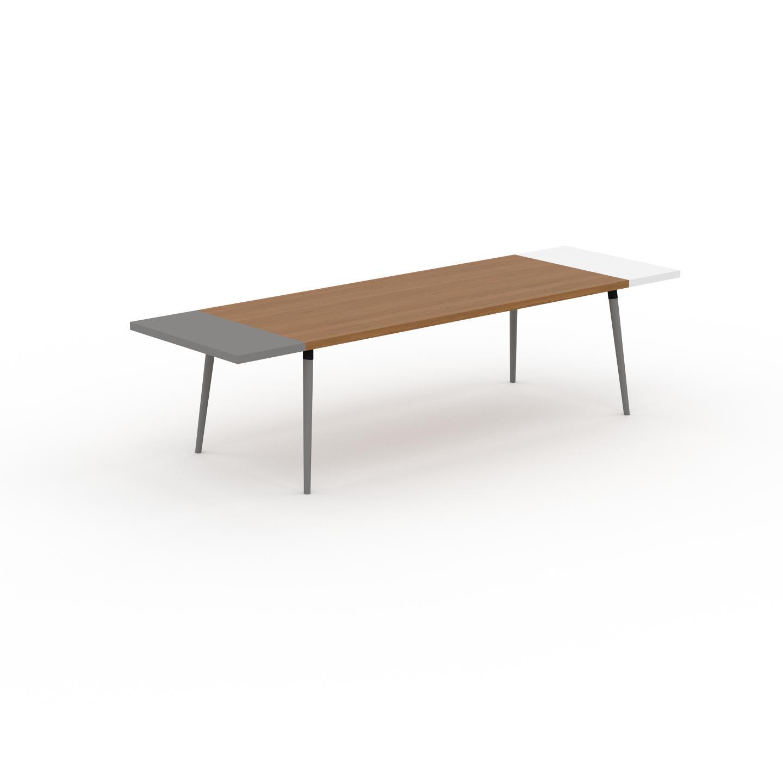 MYCS Table à manger - Chêne, design scandinave, pour salle à manger ou cuisine nordique, table extensible à rallonge - 300 x 75 x 90 cm
