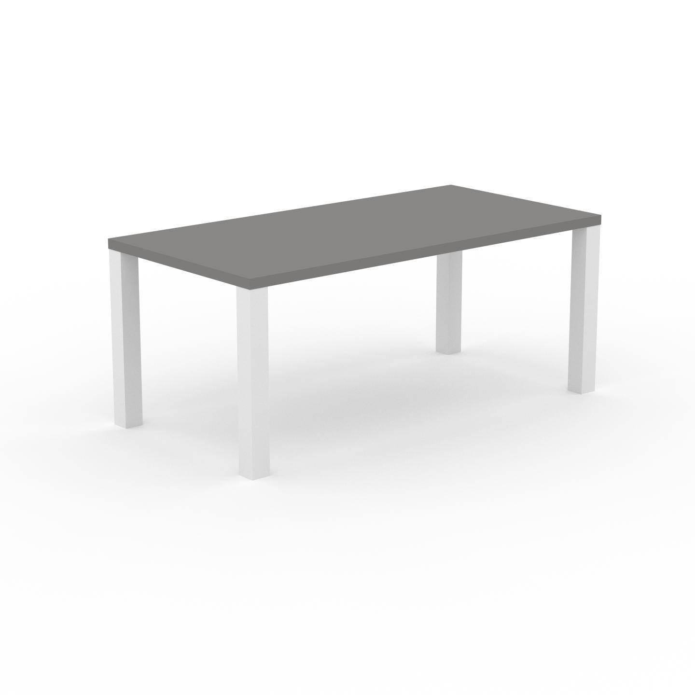 MYCS Table à manger - Gris, design, pour salle à manger ou cuisine plateau de qualité - 180 x 76 x 90 cm, personnalisable
