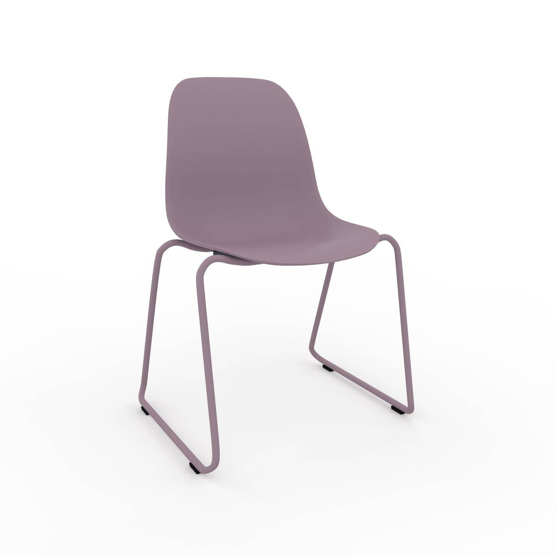 MYCS Chaise de salle à manger Rose poudré de 49 x 82 x 58 cm au design unique, configurable