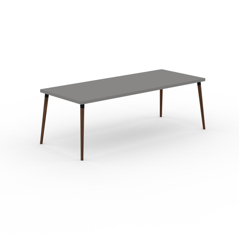 MYCS Table à manger - Gris, design scandinave, pour salle à manger ou cuisine nordique - 220 x 75 x 90 cm, personnalisable