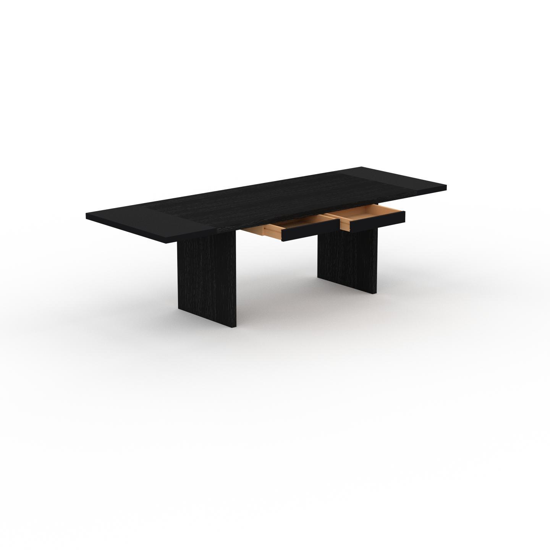 MYCS Table à manger extensible - Wengé, moderne, pour salle à manger ou cuisine, avec deux rallonges - 250 x 75 x 90 cm, personnalisable