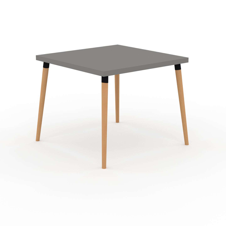 MYCS Table à manger - Gris, design scandinave, pour salle à manger ou cuisine nordique - 90 x 75 x 90 cm, personnalisable