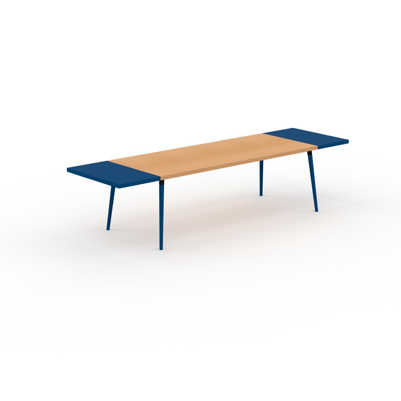 MYCS Table à manger - Hêtre, design scandinave, pour salle à manger ou cuisine nordique, table extensible à rallonge - 320 x 75 x 90 cm