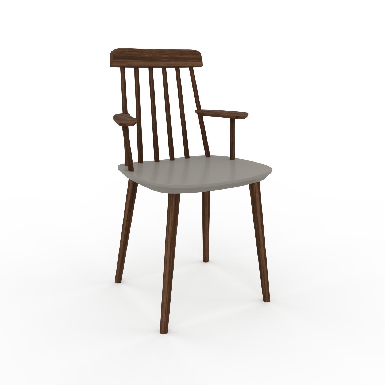 MYCS Chaise en bois Gris sable de 43 x 82 x 53 cm au design unique, configurable