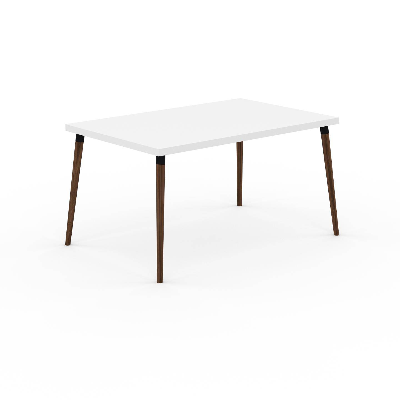 MYCS Table à manger - Blanc, design scandinave, pour salle à manger ou cuisine nordique - 140 x 75 x 90 cm, personnalisable