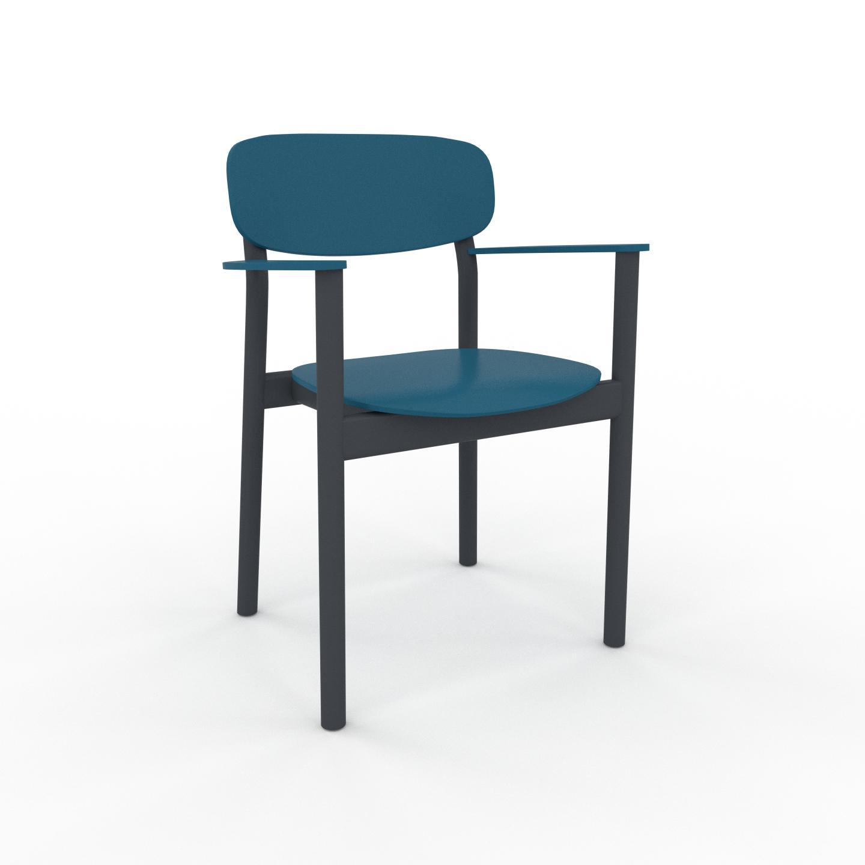 MYCS Chaise bleu de 52 x 82 x 58 cm au design unique, configurable