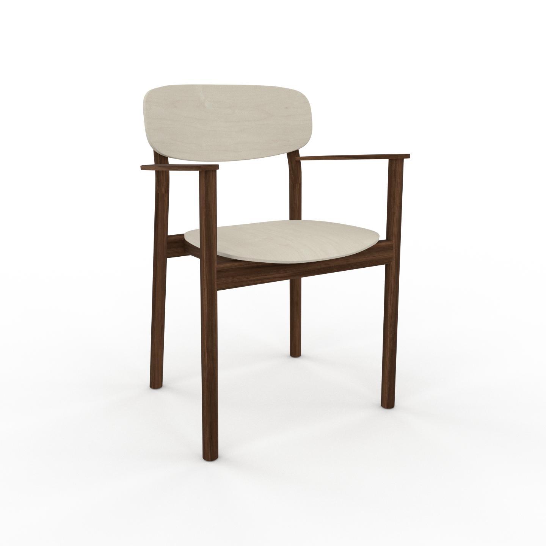MYCS Chaise de salle à manger Bouleau de 52 x 82 x 58 cm au design unique, configurable