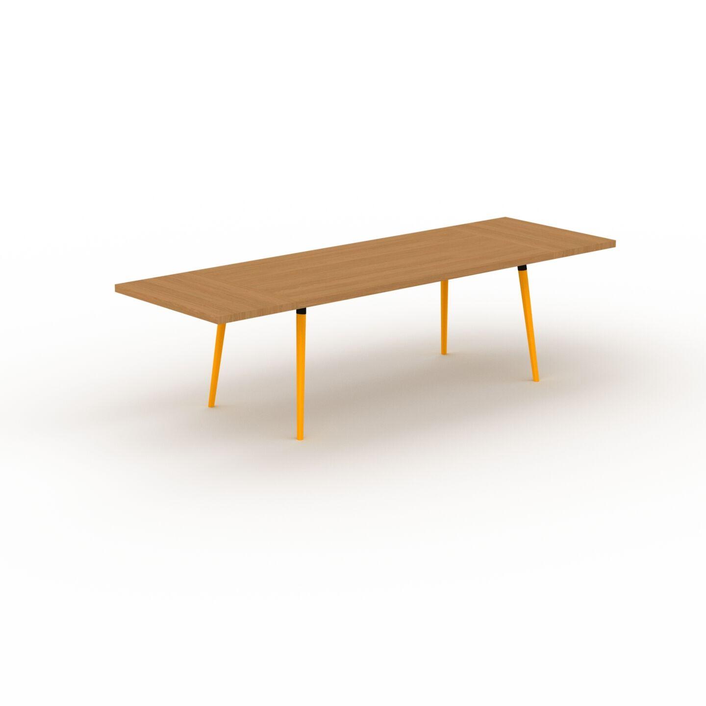 MYCS Table à manger - Chêne, design scandinave, pour salle à manger ou cuisine nordique, table extensible à rallonge - 280 x 75 x 90 cm
