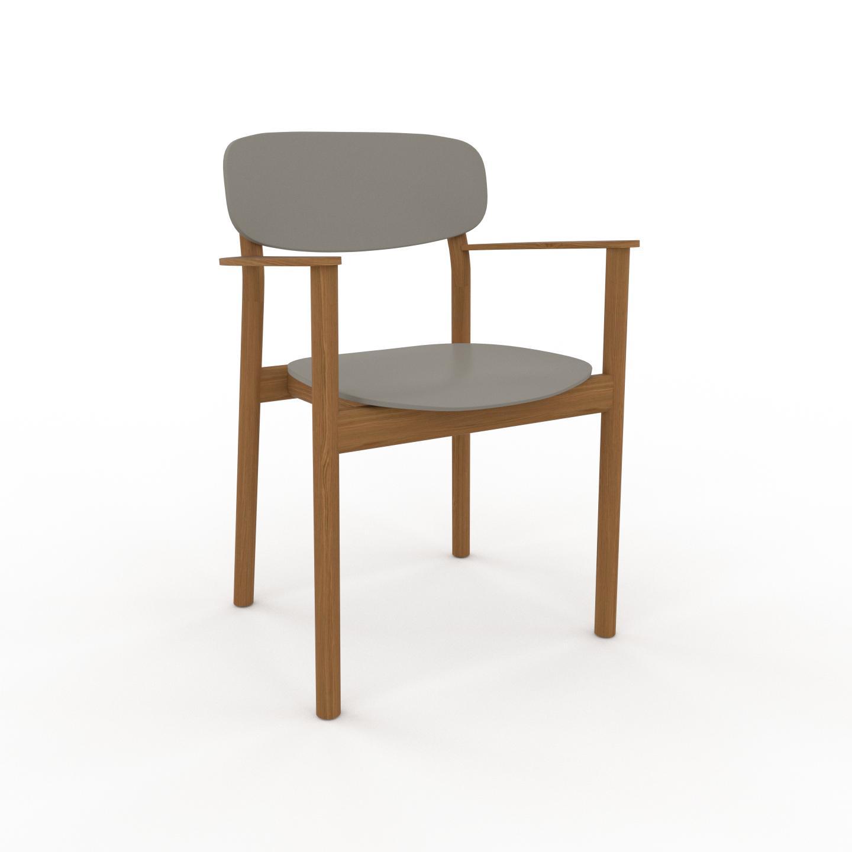 MYCS Chaise en bois Gris sable de 52 x 82 x 58 cm au design unique, configurable