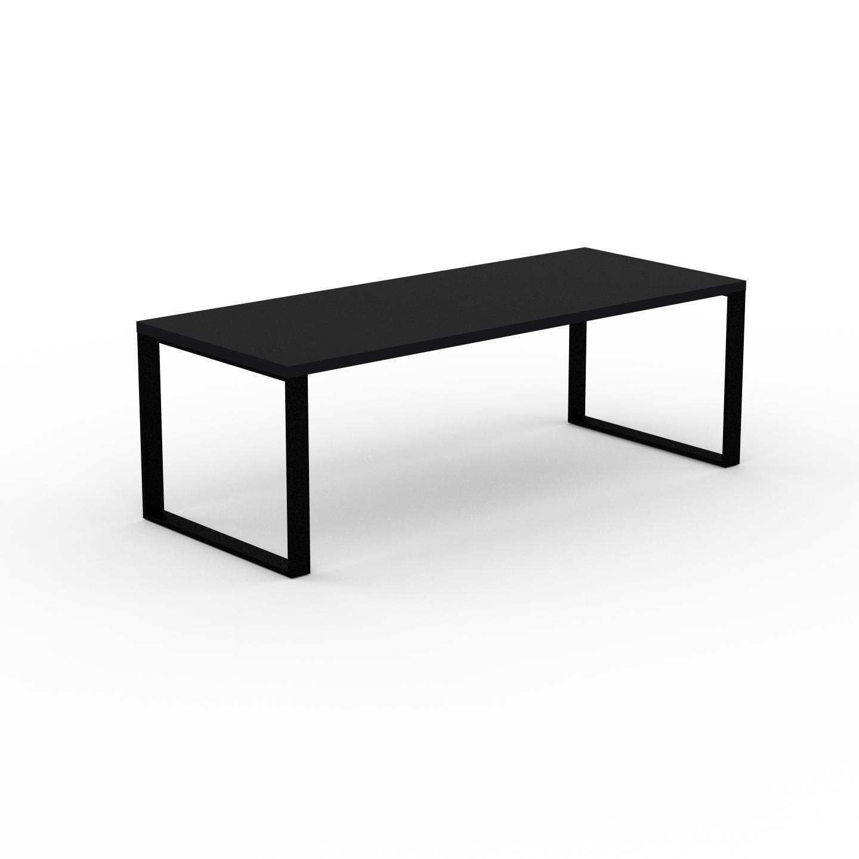 MYCS Table à manger - Noir, design, pour salle à manger ou cuisine plateau de qualité - 220 x 75 x 90 cm, personnalisable