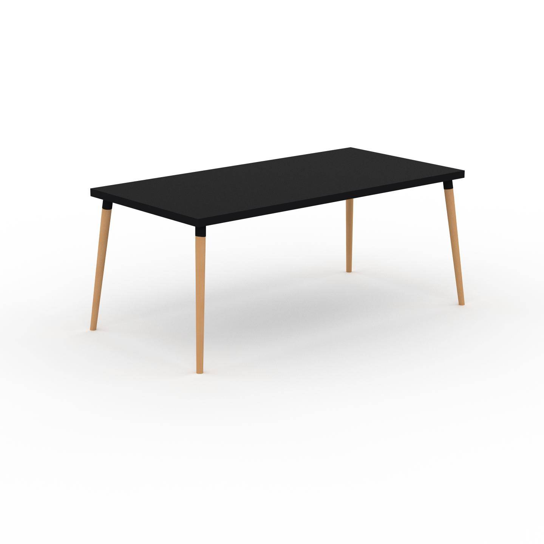 MYCS Table à manger - Noir, design scandinave, pour salle à manger ou cuisine nordique - 180 x 75 x 90 cm, personnalisable