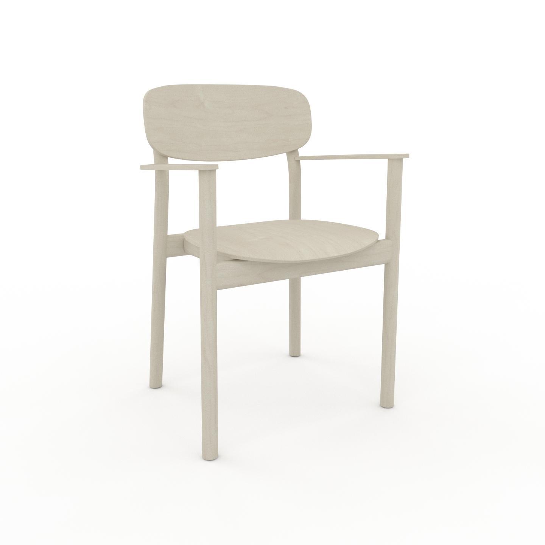 MYCS Chaise avec accoudoirs Bouleau de 52 x 82 x 58 cm au design unique, configurable