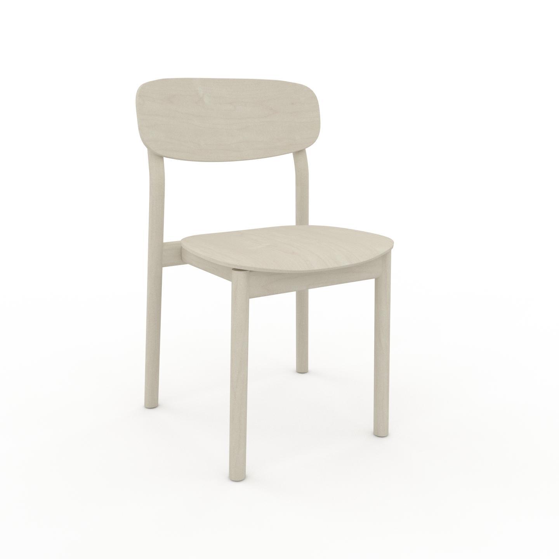 MYCS Chaise de salle à manger Bouleau de 52 x 82 x 49 cm au design unique, configurable