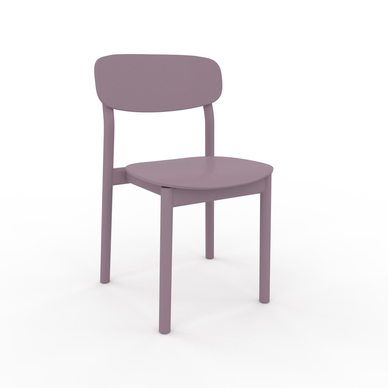 MYCS Chaise de salle à manger Rose poudré de 52 x 82 x 49 cm au design unique, configurable