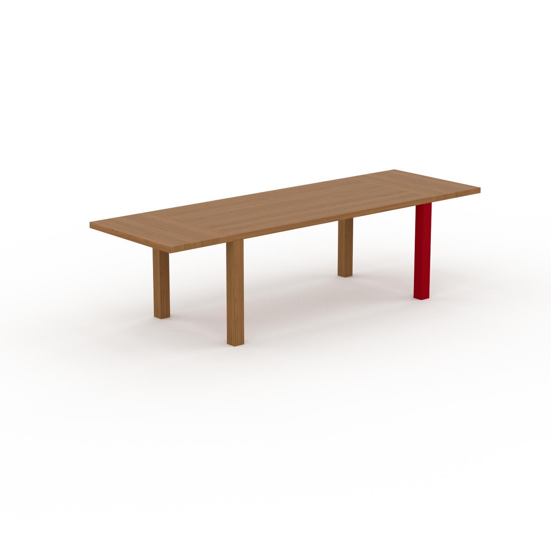 MYCS Table à manger extensible - Chêne, moderne, pour salle à manger ou cuisine, avec deux rallonges - 280 x 76 x 90 cm, personnalisable