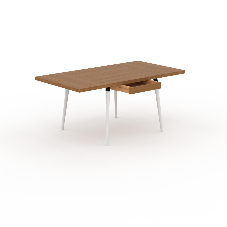 MYCS Table à manger - Chêne, design scandinave, pour salle à manger ou cuisine nordique, table extensible à rallonge - 170 x 75 x 90 cm