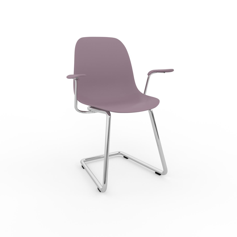 MYCS Chaise cantilever Rose poudré de 49 x 82 x 62 cm au design unique, configurable
