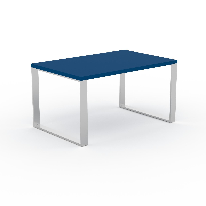 MYCS Bureau - Bleu, design industriel, table de travail de qualité, avec pieds en métal - 140 x 75 x 90 cm, personnalisable