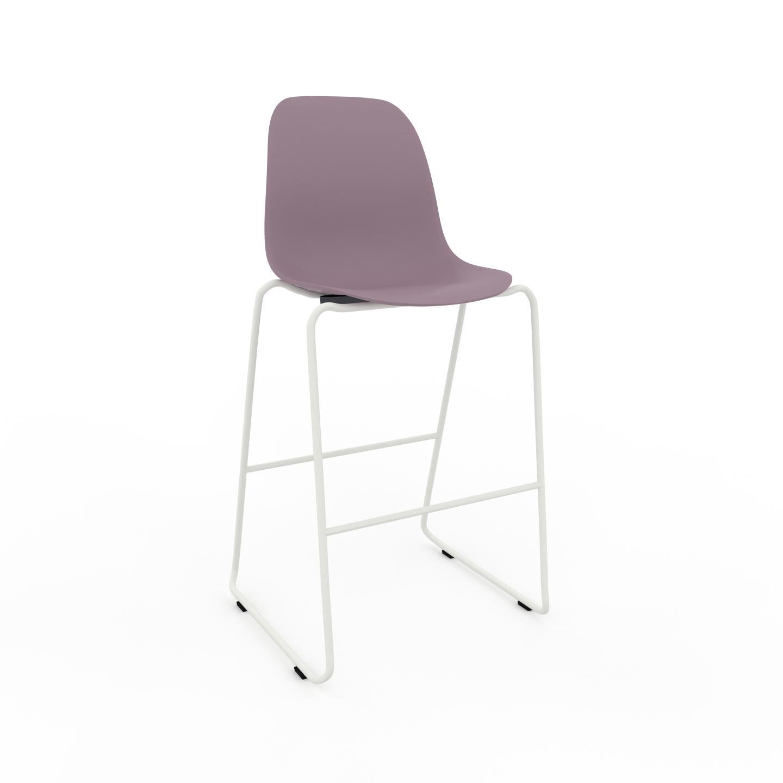 MYCS Chaise de bar Rose poudré de 49 x 112 x 58 cm au design unique, configurable