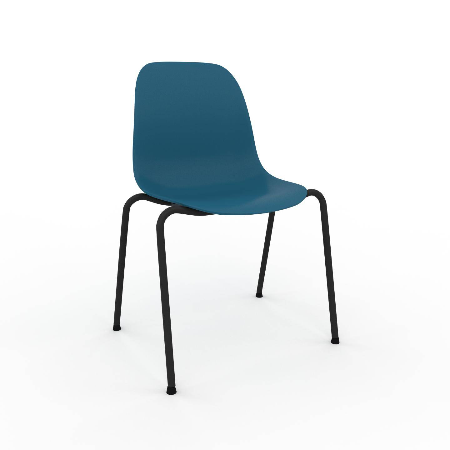 MYCS Chaise en bois bleu de 49 x 82 x 57 cm au design unique, configurable