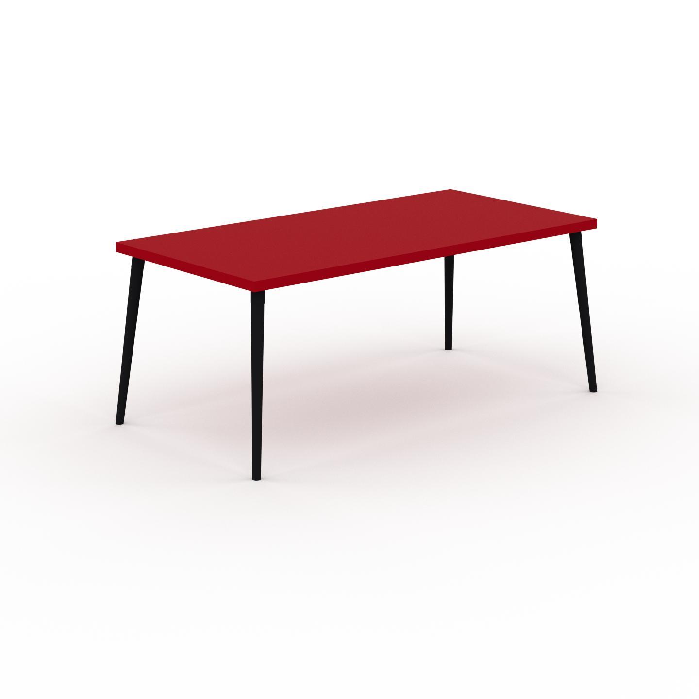 MYCS Table à manger - Rouge, design scandinave, pour salle à manger ou cuisine nordique - 180 x 75 x 90 cm, personnalisable