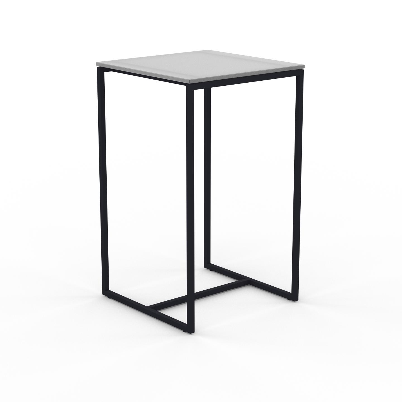 MYCS Table basse en Verre clair dépoli, design industriel, bout de canapé raffiné - 42 x 71 x 42 cm, personnalisable