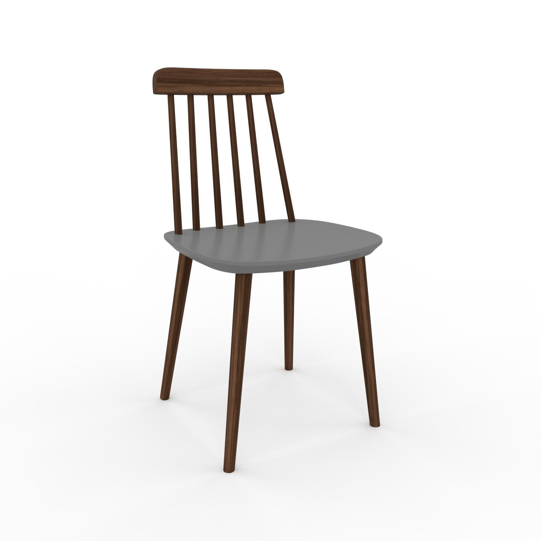 MYCS Chaise en bois gris de 43 x 82 x 44 cm au design unique, configurable