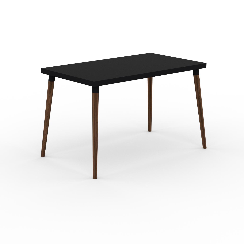 MYCS Table à manger - Noir, design scandinave, pour salle à manger ou cuisine nordique - 120 x 75 x 70 cm, personnalisable